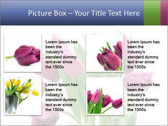 Bouquet of Purple Tulips PowerPoint Templates - Slide 14