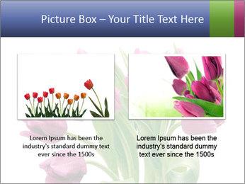 Bouquet of Purple Tulips PowerPoint Templates - Slide 18