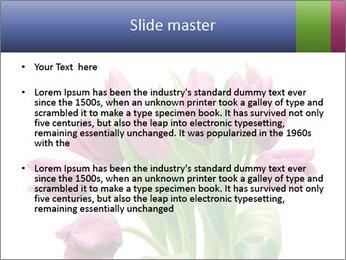 Bouquet of Purple Tulips PowerPoint Templates - Slide 2