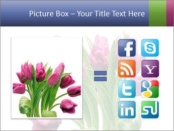 Bouquet of Purple Tulips PowerPoint Templates - Slide 21