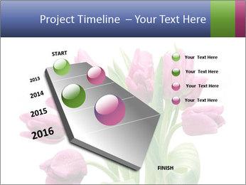 Bouquet of Purple Tulips PowerPoint Templates - Slide 26