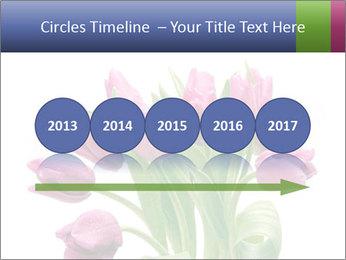 Bouquet of Purple Tulips PowerPoint Templates - Slide 29