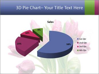Bouquet of Purple Tulips PowerPoint Templates - Slide 35