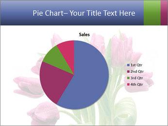 Bouquet of Purple Tulips PowerPoint Templates - Slide 36