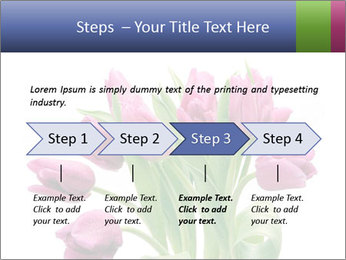 Bouquet of Purple Tulips PowerPoint Templates - Slide 4