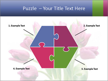 Bouquet of Purple Tulips PowerPoint Templates - Slide 40