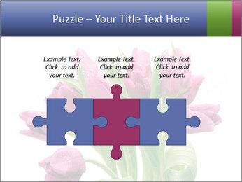Bouquet of Purple Tulips PowerPoint Templates - Slide 42