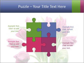 Bouquet of Purple Tulips PowerPoint Templates - Slide 43