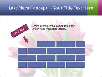 Bouquet of Purple Tulips PowerPoint Templates - Slide 46