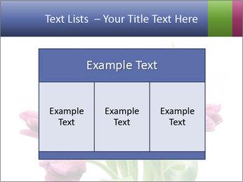 Bouquet of Purple Tulips PowerPoint Templates - Slide 59