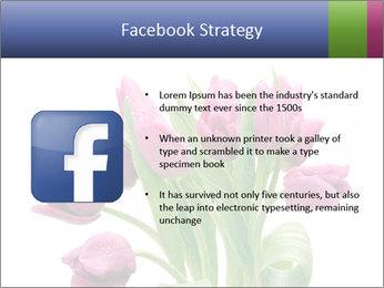 Bouquet of Purple Tulips PowerPoint Templates - Slide 6