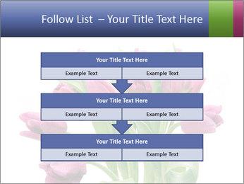 Bouquet of Purple Tulips PowerPoint Templates - Slide 60
