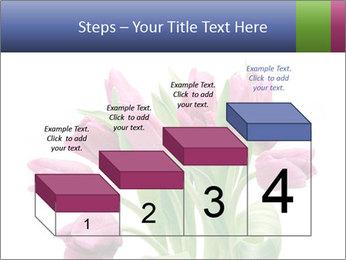 Bouquet of Purple Tulips PowerPoint Templates - Slide 64