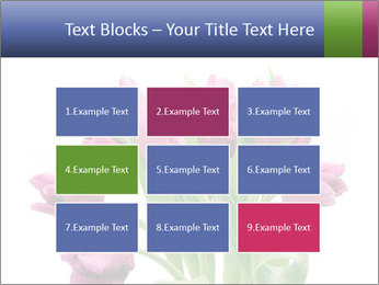 Bouquet of Purple Tulips PowerPoint Templates - Slide 68