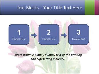 Bouquet of Purple Tulips PowerPoint Templates - Slide 71