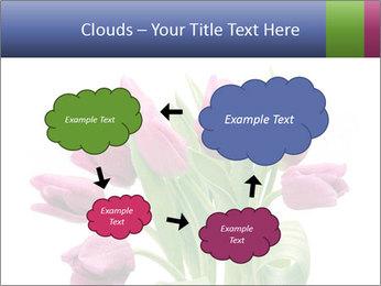 Bouquet of Purple Tulips PowerPoint Templates - Slide 72