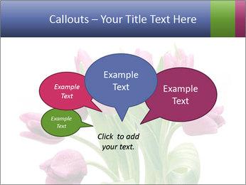 Bouquet of Purple Tulips PowerPoint Templates - Slide 73