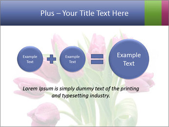 Bouquet of Purple Tulips PowerPoint Templates - Slide 75
