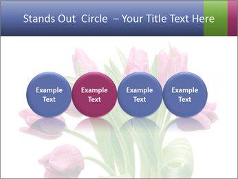 Bouquet of Purple Tulips PowerPoint Templates - Slide 76