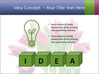 Bouquet of Purple Tulips PowerPoint Templates - Slide 80