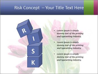 Bouquet of Purple Tulips PowerPoint Templates - Slide 81