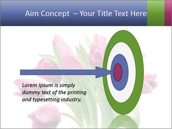Bouquet of Purple Tulips PowerPoint Templates - Slide 83