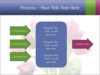 Bouquet of Purple Tulips PowerPoint Templates - Slide 85