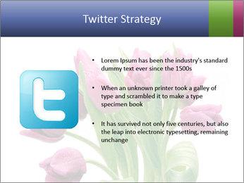 Bouquet of Purple Tulips PowerPoint Templates - Slide 9