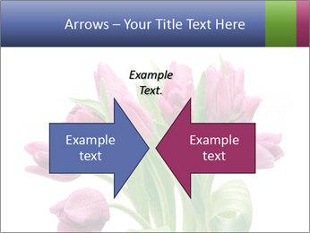 Bouquet of Purple Tulips PowerPoint Templates - Slide 90