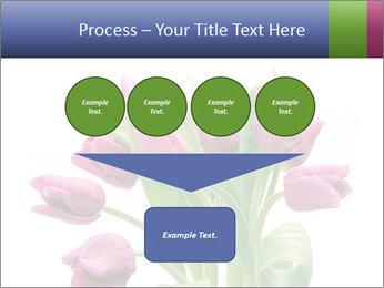 Bouquet of Purple Tulips PowerPoint Templates - Slide 93