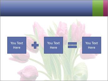Bouquet of Purple Tulips PowerPoint Templates - Slide 95