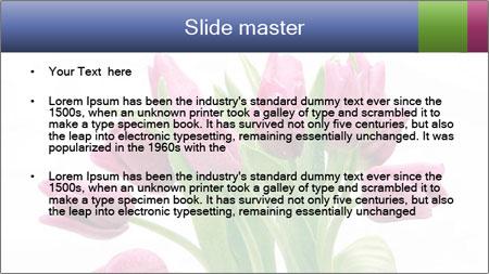 Bouquet of Purple Tulips PowerPoint Template - Slide 2