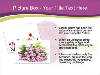 Wet Purple Tulip PowerPoint Templates - Slide 20
