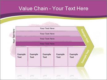 Wet Purple Tulip PowerPoint Templates - Slide 27