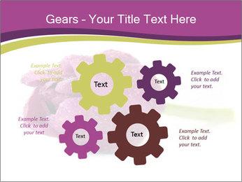 Wet Purple Tulip PowerPoint Templates - Slide 47