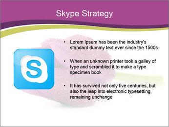 Wet Purple Tulip PowerPoint Templates - Slide 8