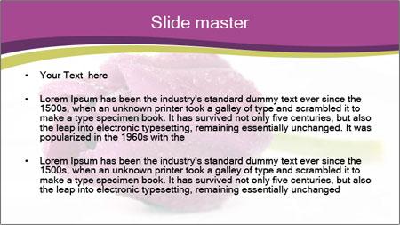 Wet Purple Tulip PowerPoint Template - Slide 2