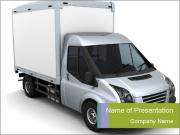 Truck for Transporting Goods PowerPoint Templates