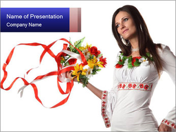 Ukrainian Folk Fashion PowerPoint Template - Slide 1