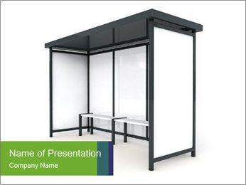 Bus Stop PowerPoint Template - Slide 1