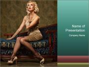 Vintage Female Dress PowerPoint Templates