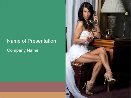 Bride with Perfect Body PowerPoint Template