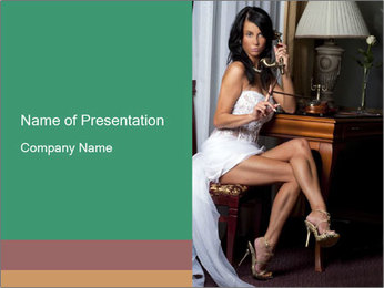 Bride with Perfect Body PowerPoint Templates - Slide 1