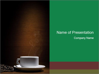 White Coffee Cup PowerPoint Template - Slide 1
