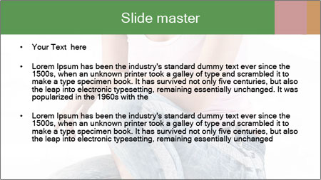 Pretty Blonde Woman Wearing Black Sunglasses PowerPoint Template - Slide 2