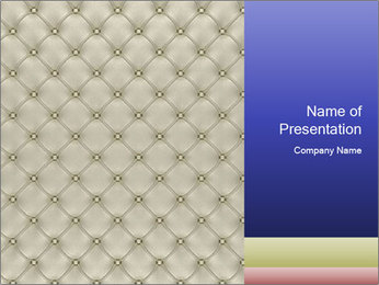 White Leather Textile PowerPoint Templates - Slide 1