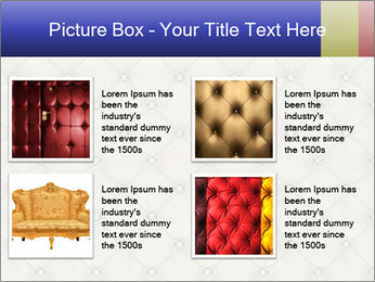 White Leather Textile PowerPoint Templates - Slide 14