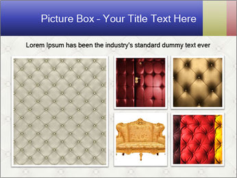 White Leather Textile PowerPoint Templates - Slide 19