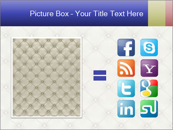 White Leather Textile PowerPoint Templates - Slide 21