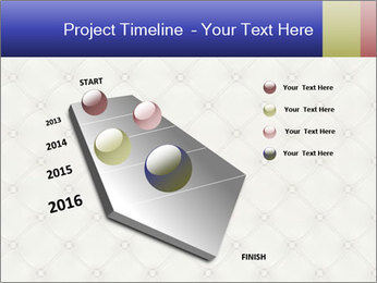 White Leather Textile PowerPoint Templates - Slide 26